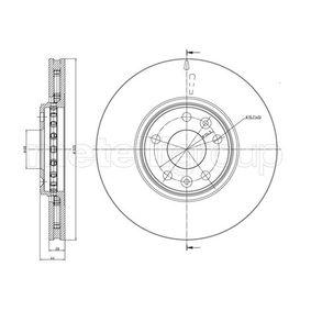 Bremsscheibe Bremsscheibendicke: 28,0mm, Lochanzahl: 5, Ø: 320,0mm mit OEM-Nummer 4020 641 55R