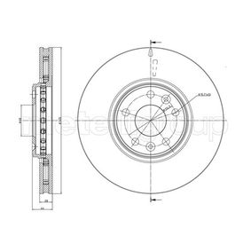 Brake Disc Brake Disc Thickness: 28,0mm, Num. of holes: 5, Ø: 320,0mm with OEM Number 40206-0003R