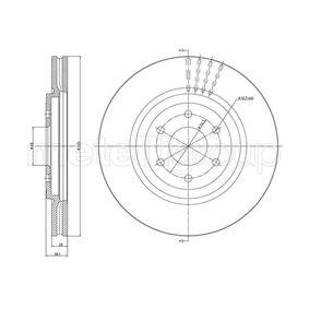 Bremsscheibe Bremsscheibendicke: 28,0mm, Lochanzahl: 6, Ø: 320,0mm mit OEM-Nummer 40206EB320