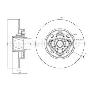 Bremsscheibe Bremsscheibendicke: 9,0mm, Lochanzahl: 4, Ø: 249,0mm mit OEM-Nummer 4249-65
