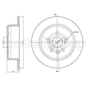 Disque de frein Épaisseur du disque de frein: 10,0mm, Nbre de trous: 5, Ø: 269,0mm avec OEM numéro 4243120200