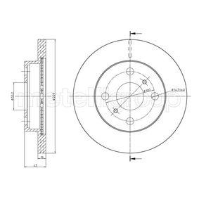 METELLI Brake disc kit Vented