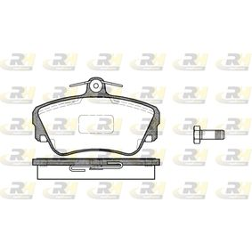 Brake Pad Set, disc brake Height: 67,5mm, Thickness: 18mm with OEM Number 3344 787