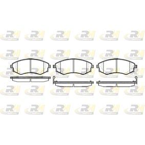Bremsbelagsatz, Scheibenbremse Höhe: 54,3mm, Dicke/Stärke: 17mm mit OEM-Nummer 58101-29A40