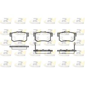 Brake Pad Set, disc brake 2325.02 CIVIC 7 Hatchback (EU, EP, EV) 2.0 Type-R MY 2001