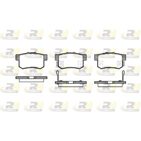 Brake Pad Set, disc brake Height: 47,5mm, Thickness: 15,4mm with OEM Number 43022-SX0-A52