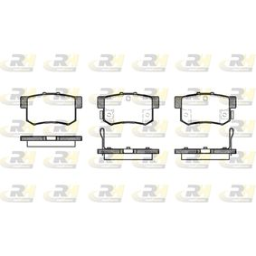 Brake Pad Set, disc brake 2325.32 CIVIC 7 Hatchback (EU, EP, EV) 1.7 CTDi MY 2003