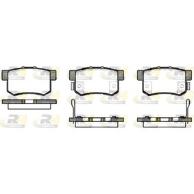 Brake Pad Set, disc brake Height: 47,4mm, Thickness 1: 15,4mm, Thickness 2: 15,8mm with OEM Number 43022S9AE52