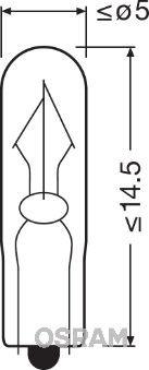OSRAM  2341 Glühlampe, Innenraumleuchte