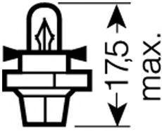Bulb, instrument lighting OSRAM 2352MFX6 rating