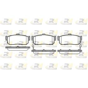 Bremsbelagsatz, Scheibenbremse Höhe: 46,8mm, Dicke/Stärke: 16mm mit OEM-Nummer 44060-4U090