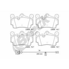 BRECK Bremseklosser klargjort for slitasjeindikator, med antihyle blikk, med balansevekter
