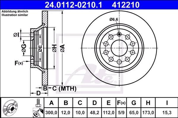 Bremsscheiben 24.0112-0210.1 ATE 412210 in Original Qualität