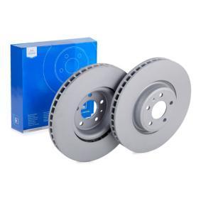 Bremsscheibe Bremsscheibendicke: 34,0mm, Lochanzahl: 5, Ø: 349,0mm mit OEM-Nummer 4M0 615 301 AB