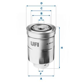 Fuel filter Height: 130,5mm with OEM Number 42072AG060