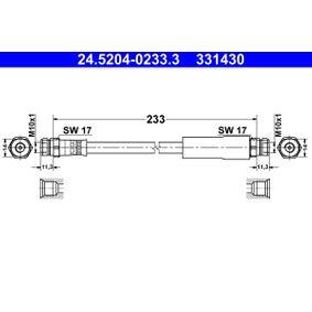 Bremsschlauch Länge: 233mm, Innengewinde 2: M10x1mm mit OEM-Nummer 1K0 611 775C