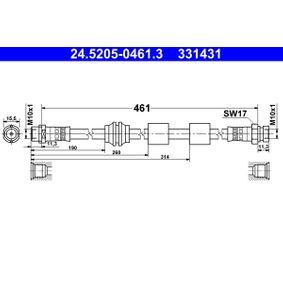 Bremsschlauch Länge: 461mm, Innengewinde 2: M10x1mm mit OEM-Nummer 1 304 007