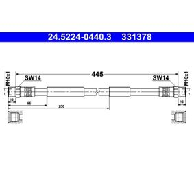 Bremsschlauch Länge: 445mm, Innengewinde 2: M10x1mm mit OEM-Nummer 251611775B