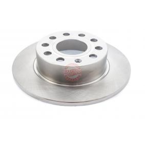 Bremsscheibe Bremsscheibendicke: 10,0mm, Lochanzahl: 5, Ø: 253,0mm, Ø: 253mm mit OEM-Nummer 5C0 615 601