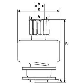 Klimakompressor Riemenscheiben-Ø: 110.00mm mit OEM-Nummer 1K0820859