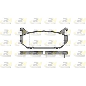 Bremsbelagsatz, Scheibenbremse Höhe: 43,5mm, Dicke/Stärke: 14mm mit OEM-Nummer G5Y5-26 43Z