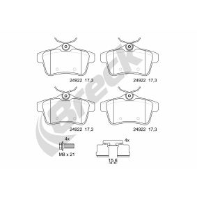 2016 Peugeot 3008 Mk1 1.6 BlueHDi 120 Brake Pad Set, disc brake 24922 00 704 00