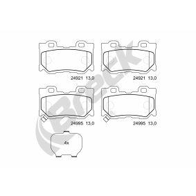 BRECK Bremseklosser inkl. slitasjevarselkontakt, med akustisk slitasjevarsel, med antihyle blikk, uten tilbehør