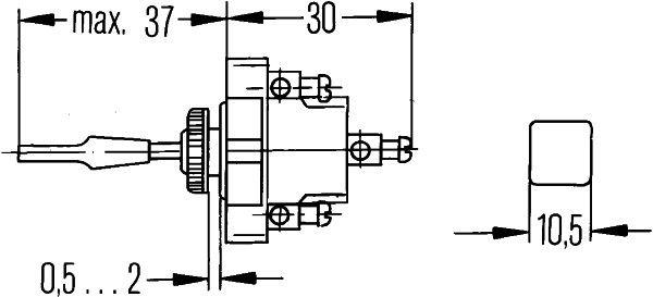 Control Stalk, indicators HELLA 6BG 001 545-001 rating