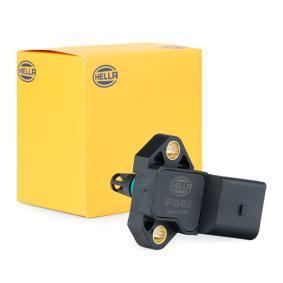 HELLA Sensor, Ladedruck 6PP 009 400-251 für AUDI A4 (8E2, B6) 1.9 TDI ab Baujahr 11.2000, 130 PS