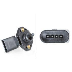 HELLA Sensor, Ladedruck 6PP 009 400-481 für AUDI A4 (8D2, B5) 1.9 TDI ab Baujahr 03.2000, 116 PS
