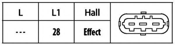 Sensor, posición arbol de levas HELLA 6PU 009 121-811 evaluación