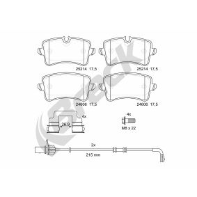 Kit de plaquettes de frein, frein à disque Hauteur: 59,50mm, Épaisseur: 17,50mm avec OEM numéro 9A7 698 451 00
