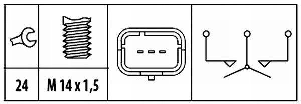 Interruptor, piloto de marcha atrás HELLA 6ZF 181 612-071 evaluación