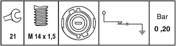 Διακόπτης πίεσης λαδιού HELLA 6ZL 009 600-051 εκτίμηση