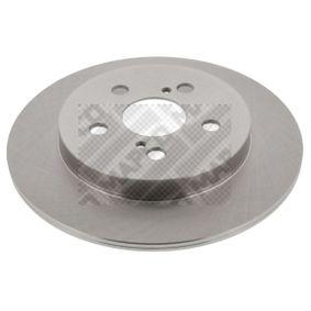 Bremsscheibe Bremsscheibendicke: 9mm, Lochanzahl: 5, Ø: 259mm mit OEM-Nummer 4243112310
