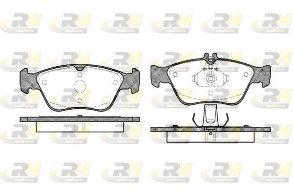 ROADHOUSE  2586.00 Bremsbelagsatz, Scheibenbremse Höhe 1: 66,3mm, Höhe 2: 60mm, Dicke/Stärke: 19,5mm