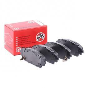 Brake Pad Set, disc brake Width: 142mm, Height: 56mm, Thickness: 16mm with OEM Number B6YS3328ZA