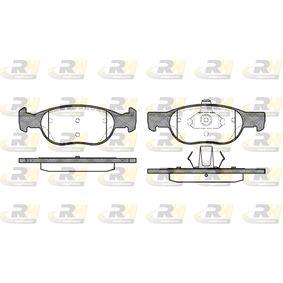 Brake Pad Set, disc brake 2588.20 PUNTO (188) 1.2 16V 80 MY 2002