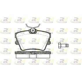 Bremsbelagsatz, Scheibenbremse Höhe: 57,4mm, Dicke/Stärke: 17mm mit OEM-Nummer 7D0698451