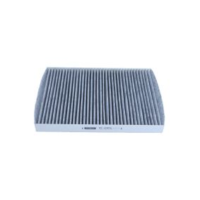 Filter, interior air Length: 281mm, Width: 206mm, Height: 25mm with OEM Number 1H0 091 800SE