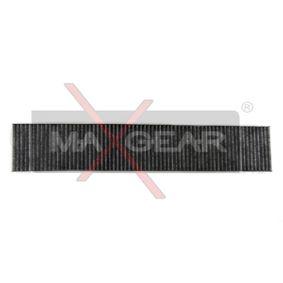 MAXGEAR  26-0457 Filter, Innenraumluft Länge: 537mm, Breite: 110mm, Höhe: 25mm