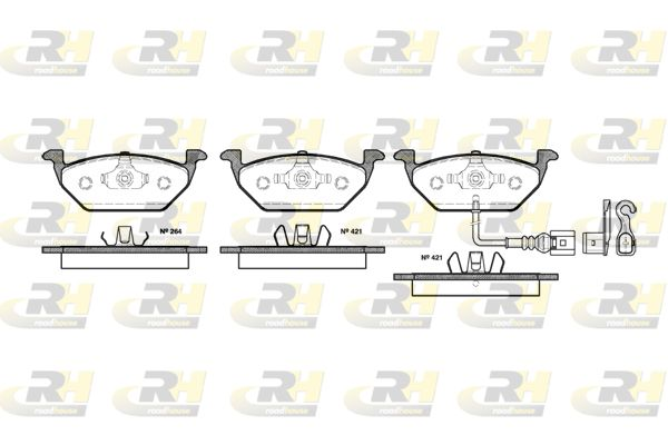 ROADHOUSE  2633.21 Bremsbelagsatz, Scheibenbremse Höhe: 54,7mm, Dicke/Stärke: 19,8mm
