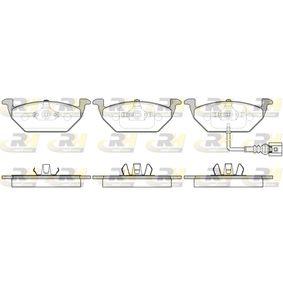 Bremsbelagsatz, Scheibenbremse Höhe: 54,7mm, Dicke/Stärke: 19,3mm mit OEM-Nummer 1J0 698 151G