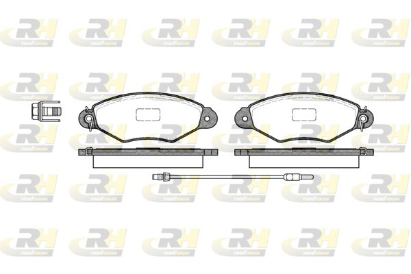 ROADHOUSE  2643.01 Bremsbelagsatz, Scheibenbremse Höhe: 47,4mm, Dicke/Stärke: 18mm
