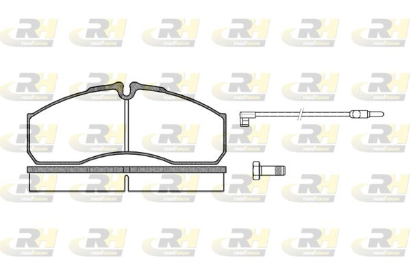 ROADHOUSE  2651.12 Bremsbelagsatz, Scheibenbremse Höhe: 67,9mm, Dicke/Stärke: 20,2mm