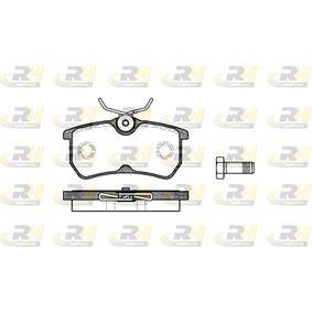 Brake Pad Set, disc brake 2693.00 FIESTA 6 1.25 MY 2015