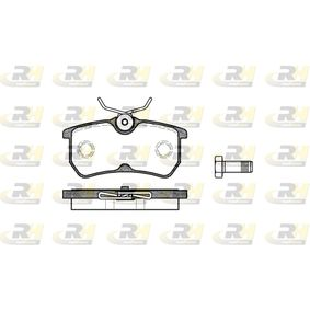 Brake Pad Set, disc brake Height: 42,5mm, Thickness: 14,5mm with OEM Number 1107698