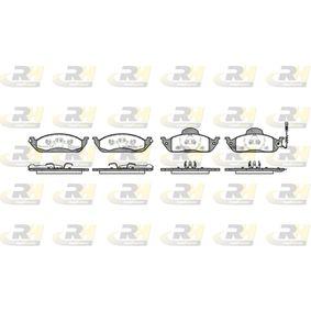 Bremsbelagsatz, Scheibenbremse Höhe 1: 77mm, Höhe 2: 58,8mm, Dicke/Stärke 1: 16mm, Dicke/Stärke 2: 17mm mit OEM-Nummer 4163420032