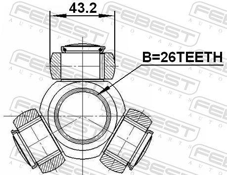 Трипод, полуоска FEBEST 2716-S80T оценка