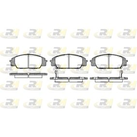 Brake Pad Set, disc brake Height: 52,5mm, Thickness 1: 16,6mm, Thickness 2: 17mm with OEM Number 45022S2AE50